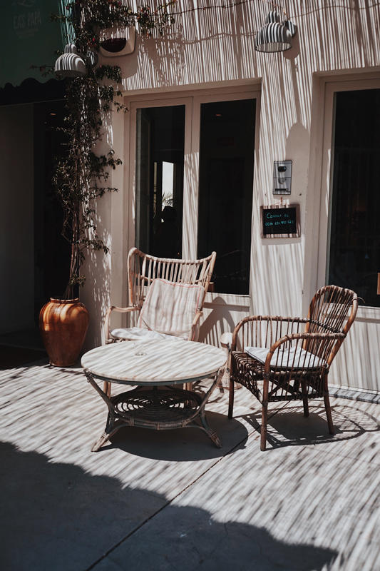two chairs in sun