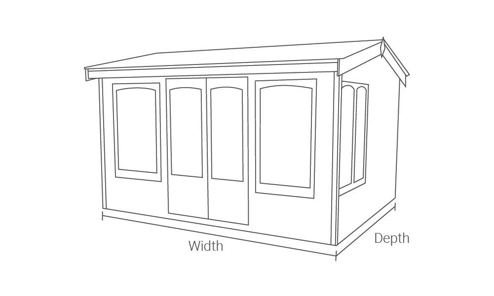 Malvern Garden Buildings Astwood Cottage Range drawing