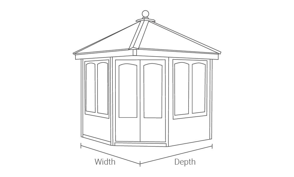 Malvern Garden Buildings Clifton Cottage Range drawing