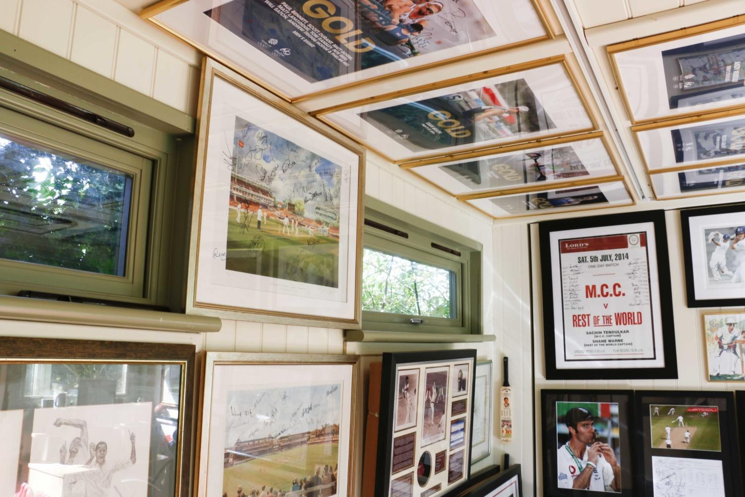 We visit a customer who uses their garden studio to house his vast collection of sports memorabilia