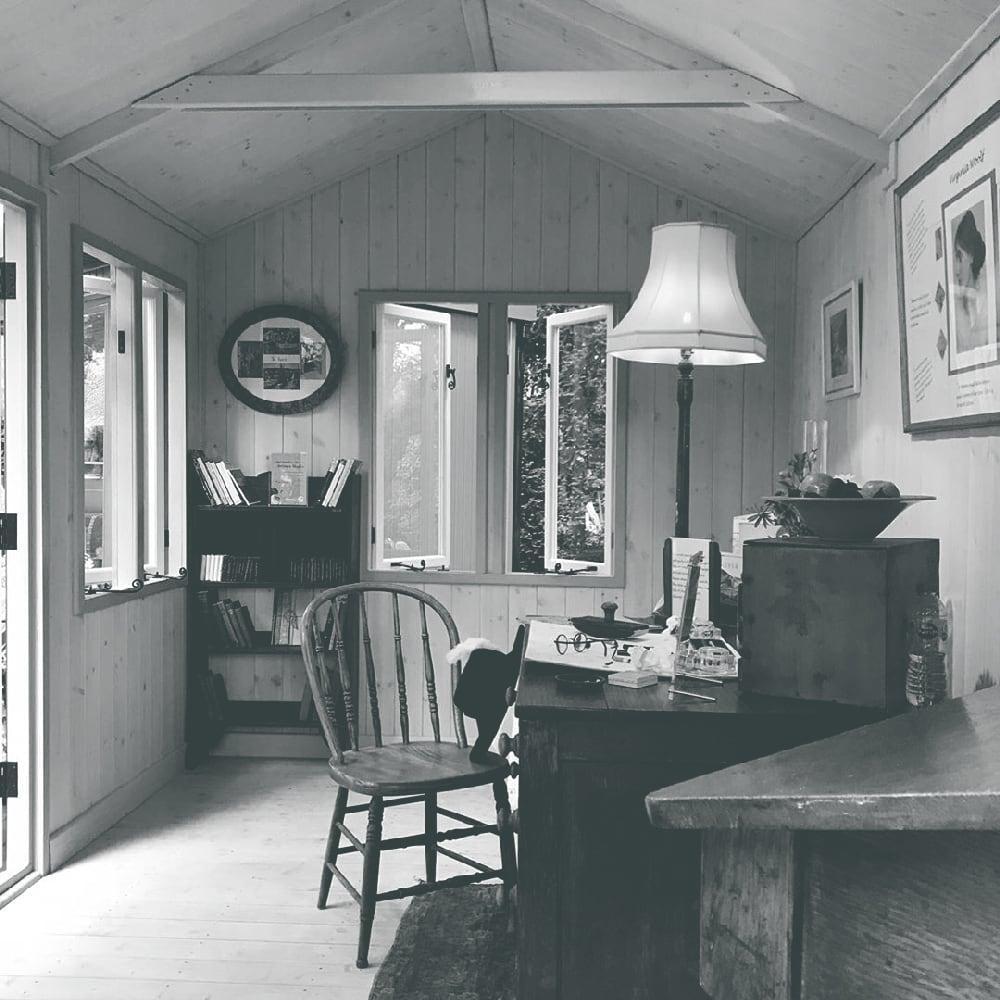 The Bloomsbury writing retreat interior view, exclusive to Malvern Garden Buildings