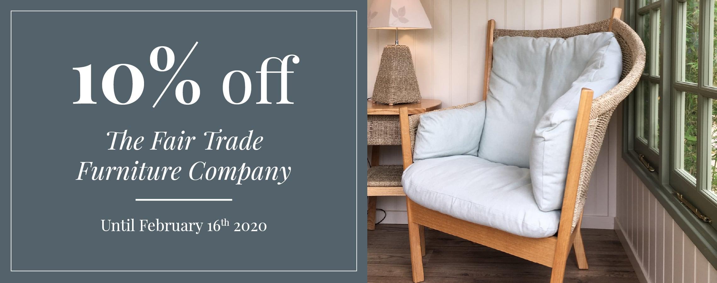 10% off The Fair-trade Furniture Company Sale