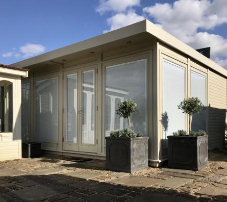 Hanley Garden Office ex-display garden building available at Malvern Garden Buildings, Shepperton, Greater London