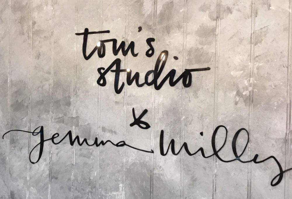 Toms Studio x Gemma Milly logo