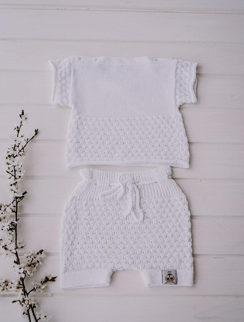 apranga mergaitėms | Komplektukai | lino ir medvilnės kostiumėliai kūdikiams