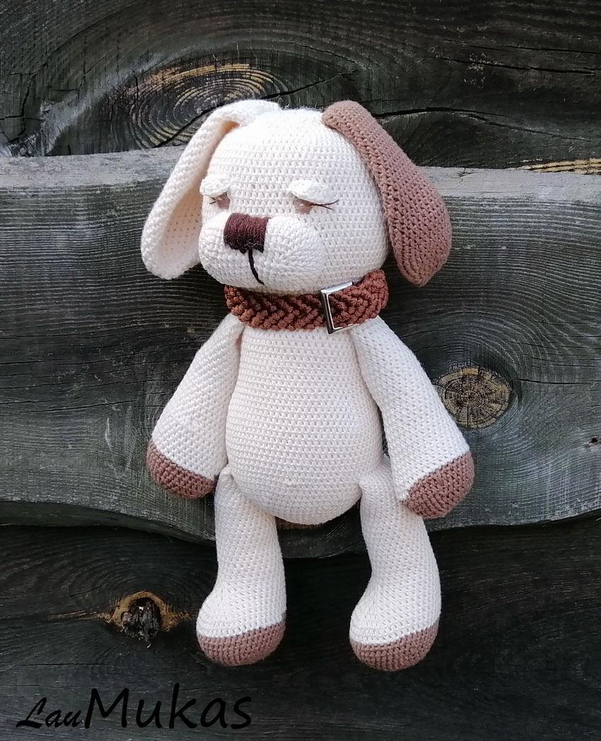 žaislai | minkšti | minkštas žaislas šuniukas medvilnė 36 cm
