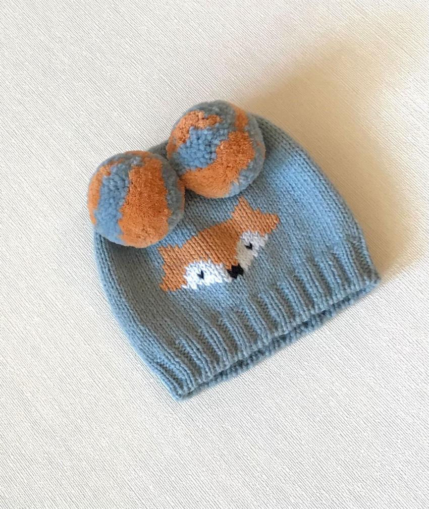 apranga berniukams | Kepurės | mezgta merino vilnos kepurė mažyliui nuo