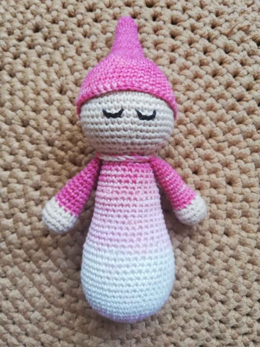 žaislai | migdukai | miego lėlytė 21cm ūgio . spalva rožinė,