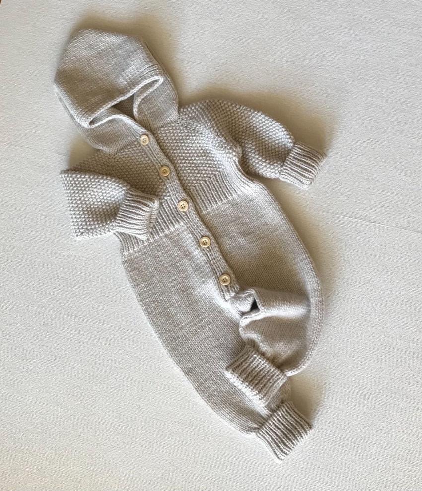 apranga berniukams | Komplektukai | megztas merino vilnos kombinezonas mažyl