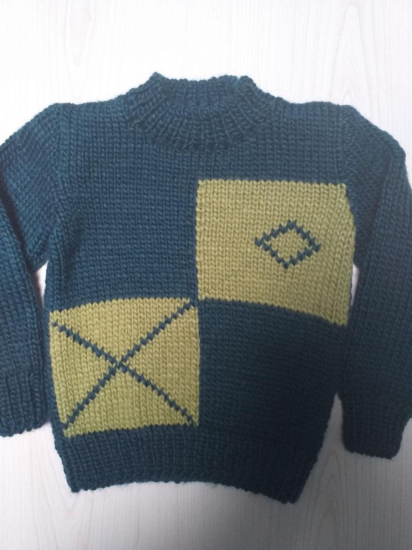 apranga berniukams | Megztukai | rankų darbo megztinis 1-3 metų berniukui