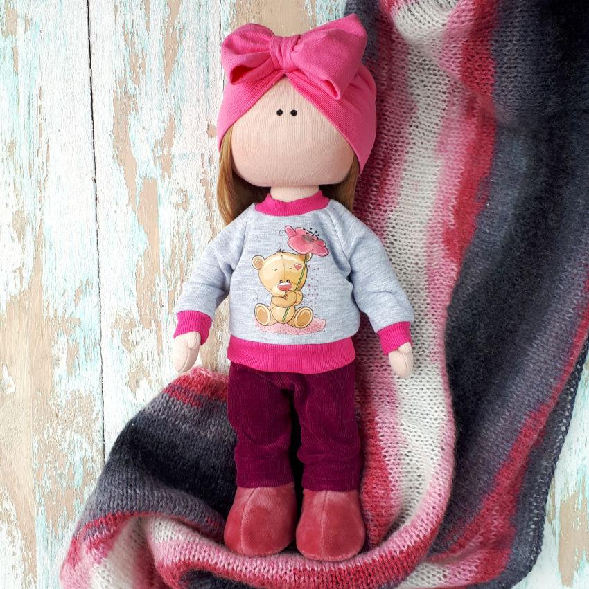 žaislai | lėlės | rankų darbo minkšta tekstilinė siūta lėl