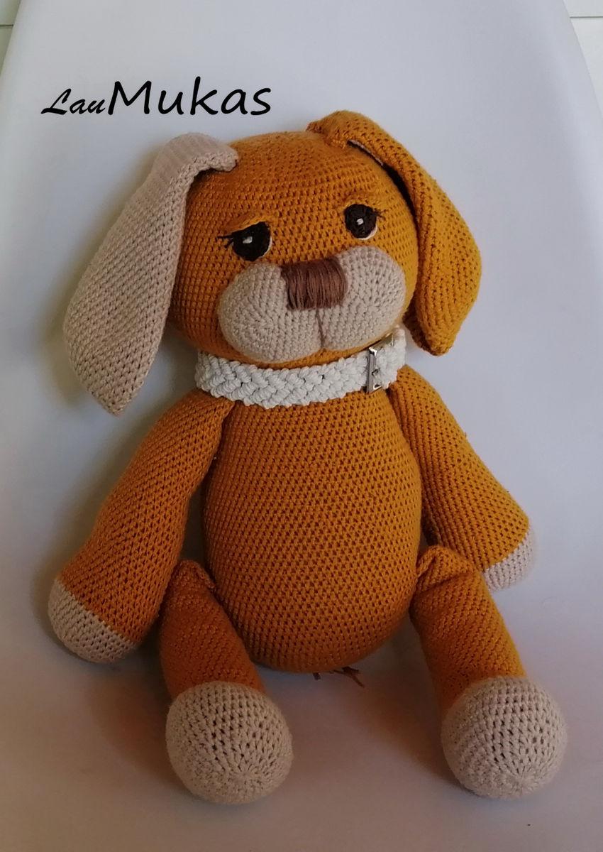 žaislai | minkšti | nertas minkštas žaislas šuniukas, medvil
