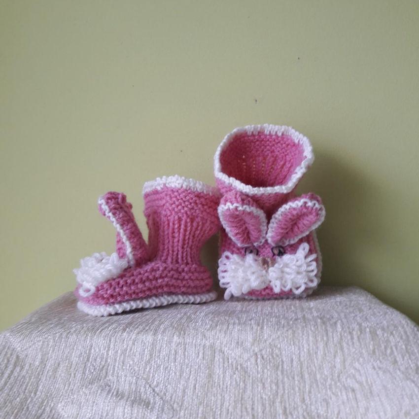 avalynė | tapukai | rankų darbo megzti batukai kūdikiui, pad