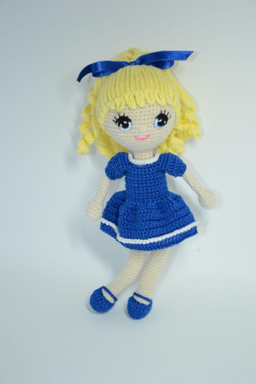 žaislai   lėlės   linksma, rankų darbo nerta, maža lelytė