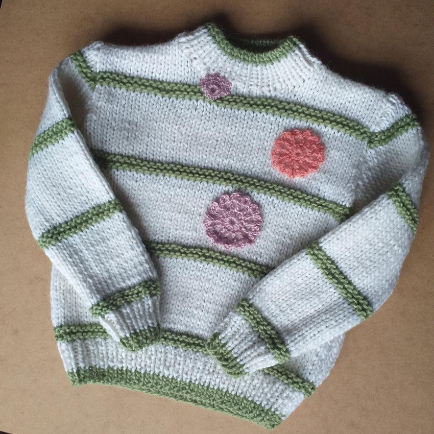 apranga mergaitėms | Megztukai | rankų darbo megztinis 2-4 metų mergaitei