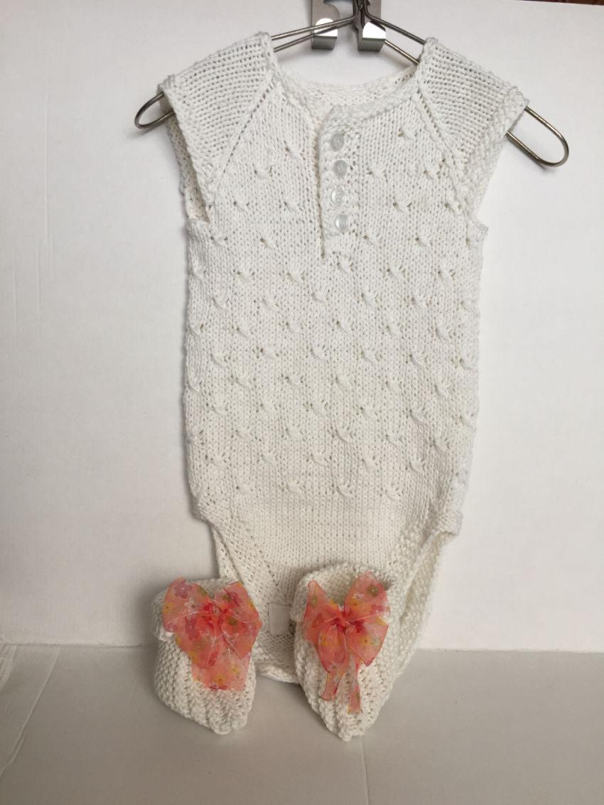 apranga mergaitėms | Smėlinukai | megztas iš medvilninių baltos spalvos  s