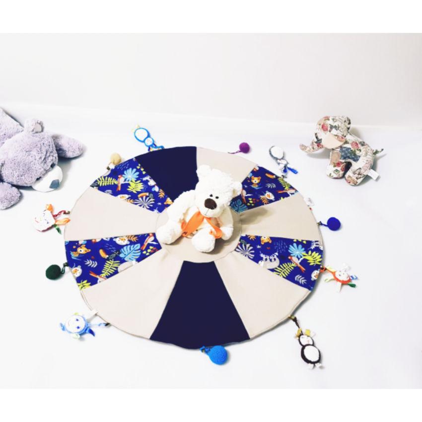 """dekoracijos   kilimėliai   žaidimų kilimėlis su žaisliukais """"mėlynė"""
