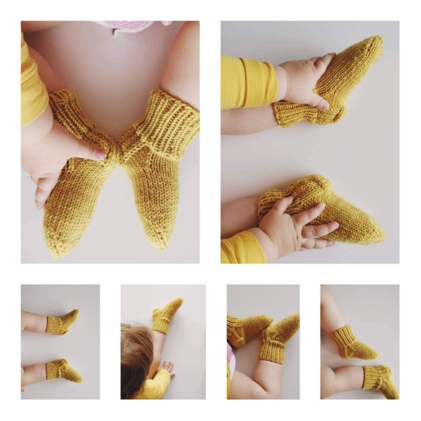 avalynė | kojinės | rankų darbo 100% merino vilnos naujagimi