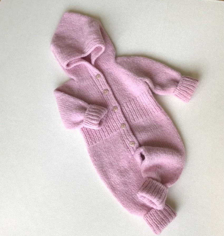 apranga mergaitėms   Komplektukai   megztas kombinezonas mažylei 3-6 mėn. bu