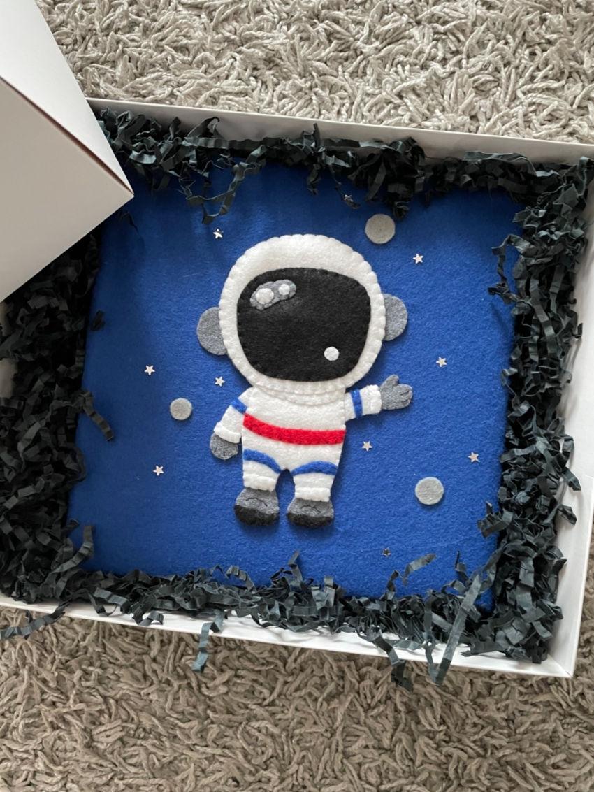 dekoracijos | vaiko kambarys | vaikiškas albumas su kosmonautu