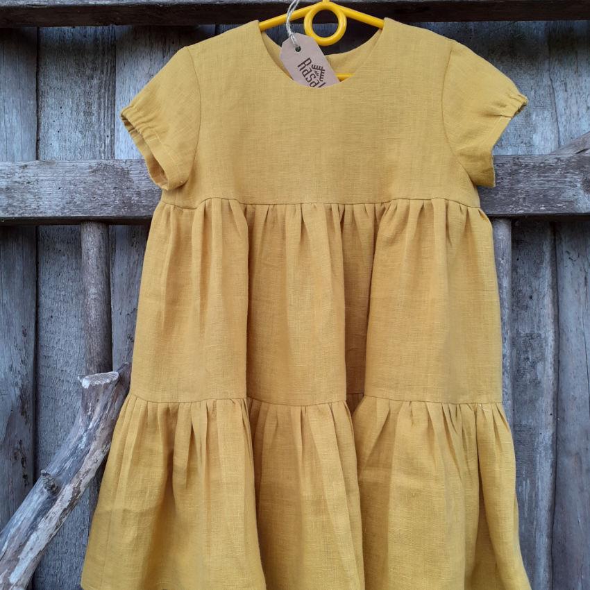 apranga mergaitėms | Suknelės | miela lininė suknelė