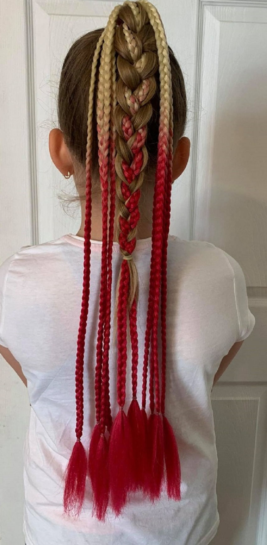 aksesuarai   plaukams   pintos afrokasytės  ant gumelės, 60 cm i