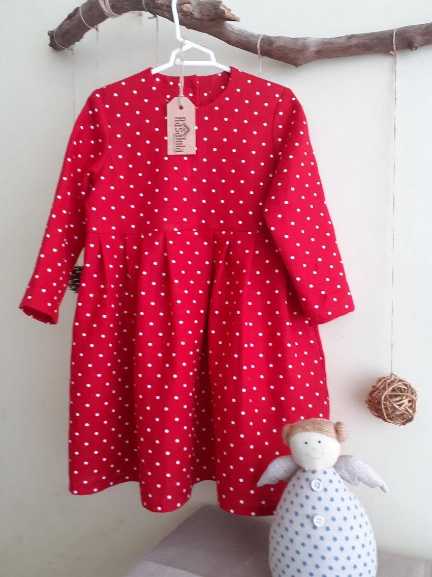 apranga mergaitėms | Suknelės | lininė suknelė mergaitei