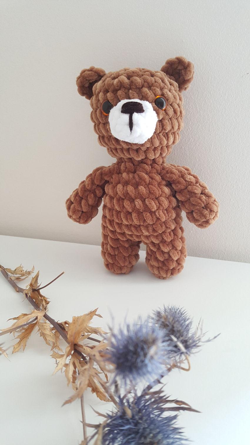 žaislai | minkšti | nertas žaislas meškiukas, 20 cm ilgio. s