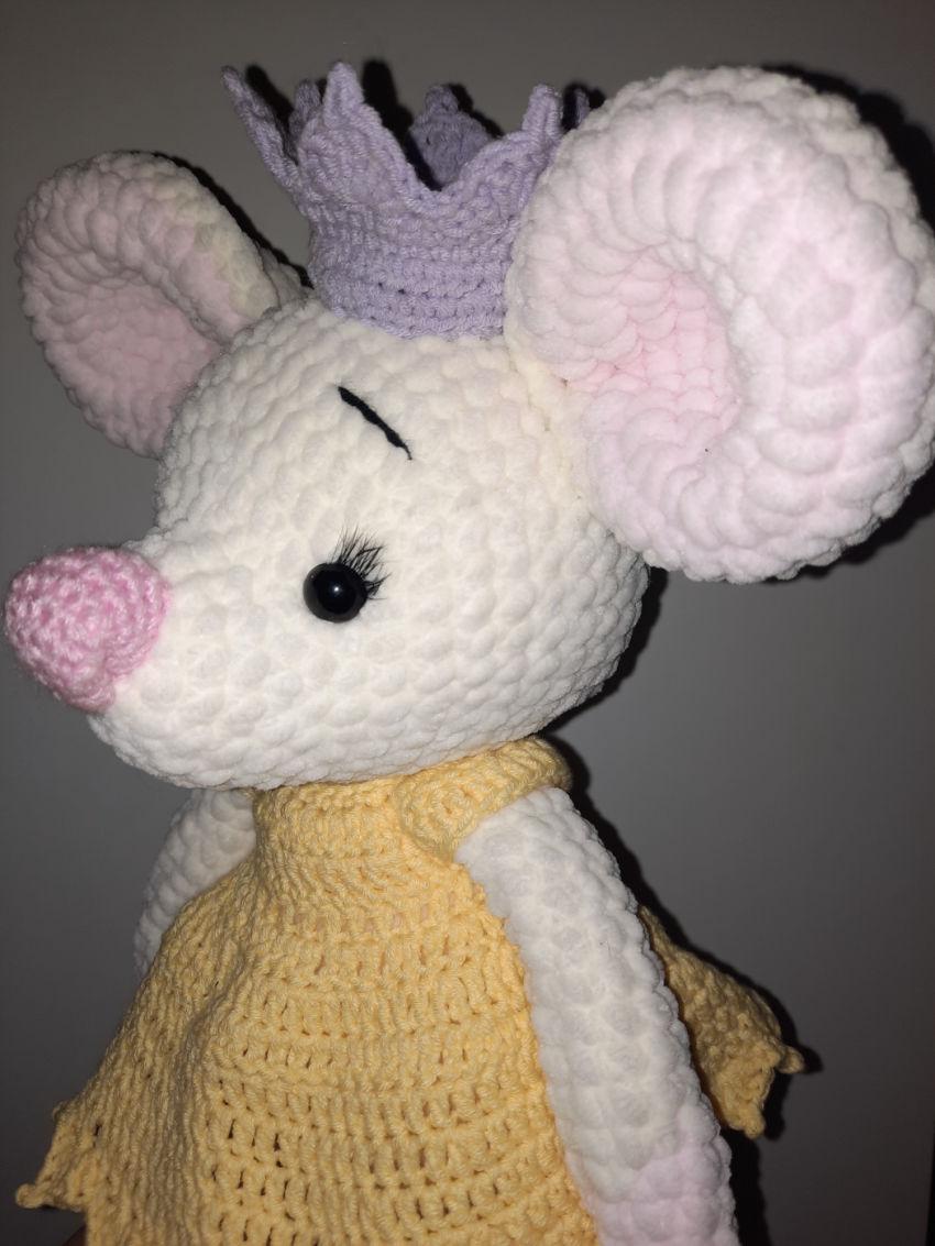 žaislai   minkšti   nerta pelytė 'princesė', 30cm ilgio, su