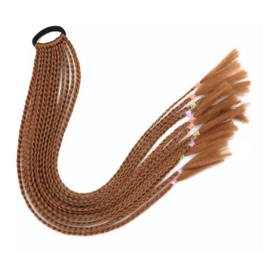 aksesuarai   plaukams   pintos afrokasytės ant gumelės, 60 cm il