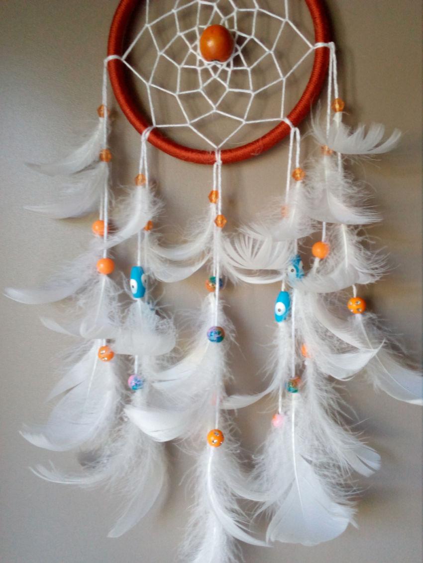 dekoracijos | vaiko kambarys | sapnų gaudyklė, 10 cm skersmens ir 28 cm