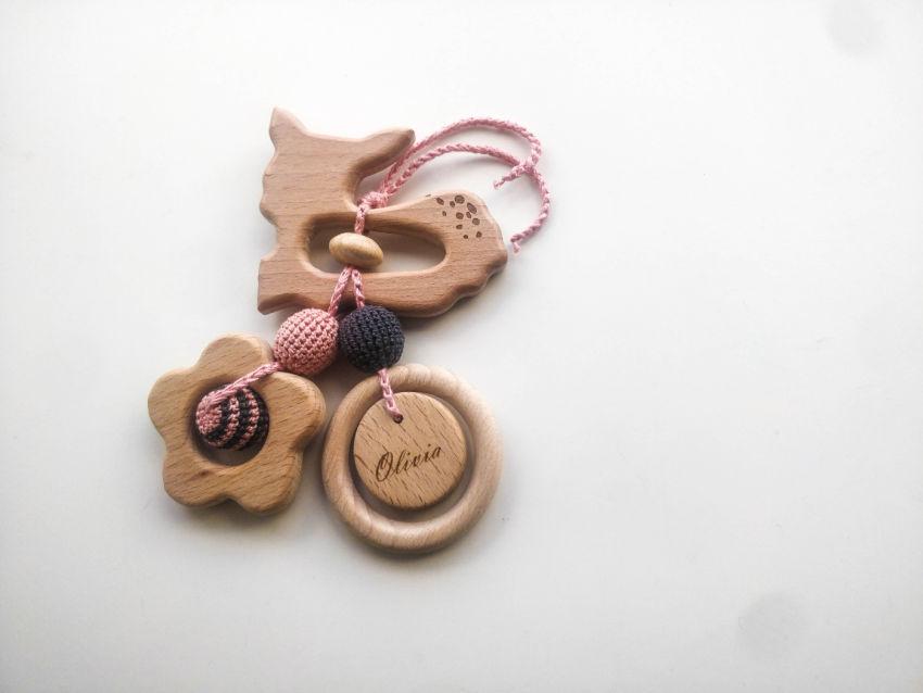 žaislai | kramtukai | ekologiškas vardinis kramtukas kūdikiui