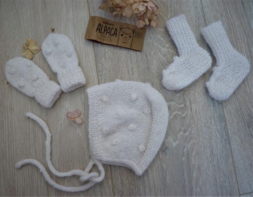 apranga mergaitėms   Komplektukai   alpakos vilnos aksesuarų komplektas, tin