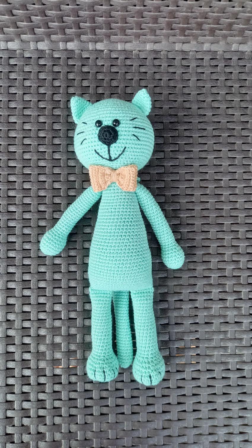 žaislai | minkšti | linksmuolis mėtinis kačiukas su petelišk