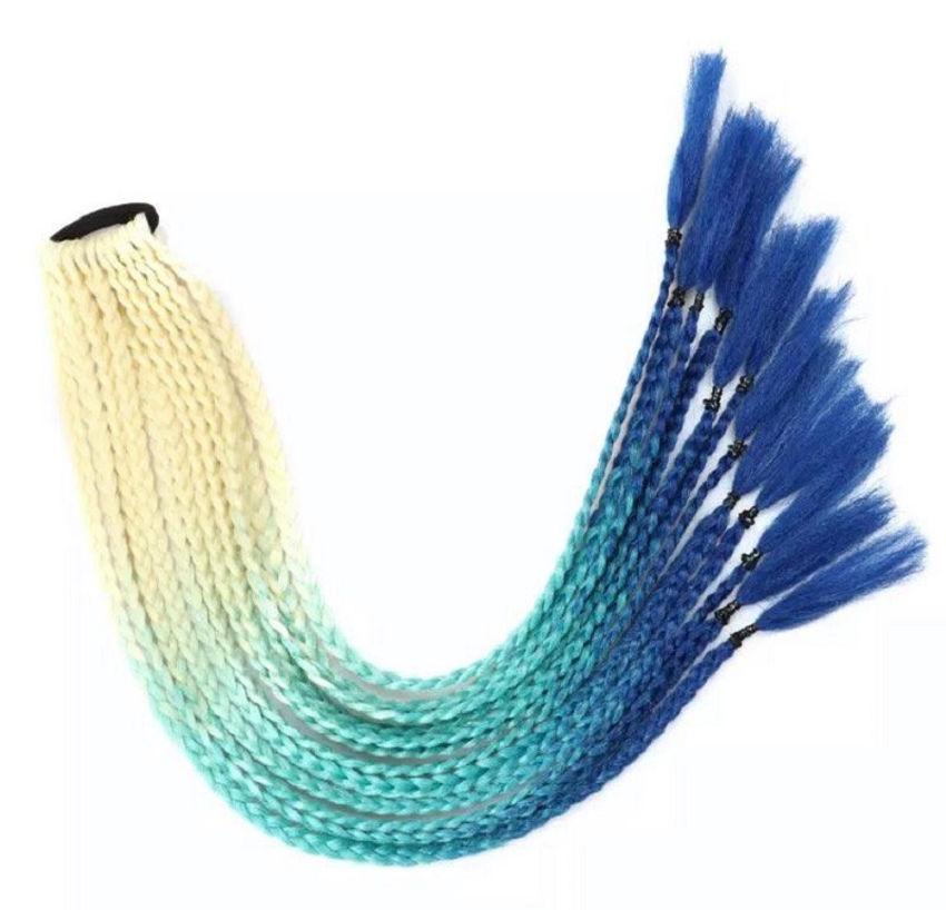 aksesuarai | plaukams | pintos trispalvės afrokasytės ant gumelė