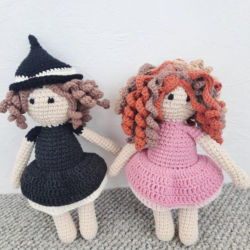 žaislai | lėlės |  išdykusios lelytės raganaitės - juoda i