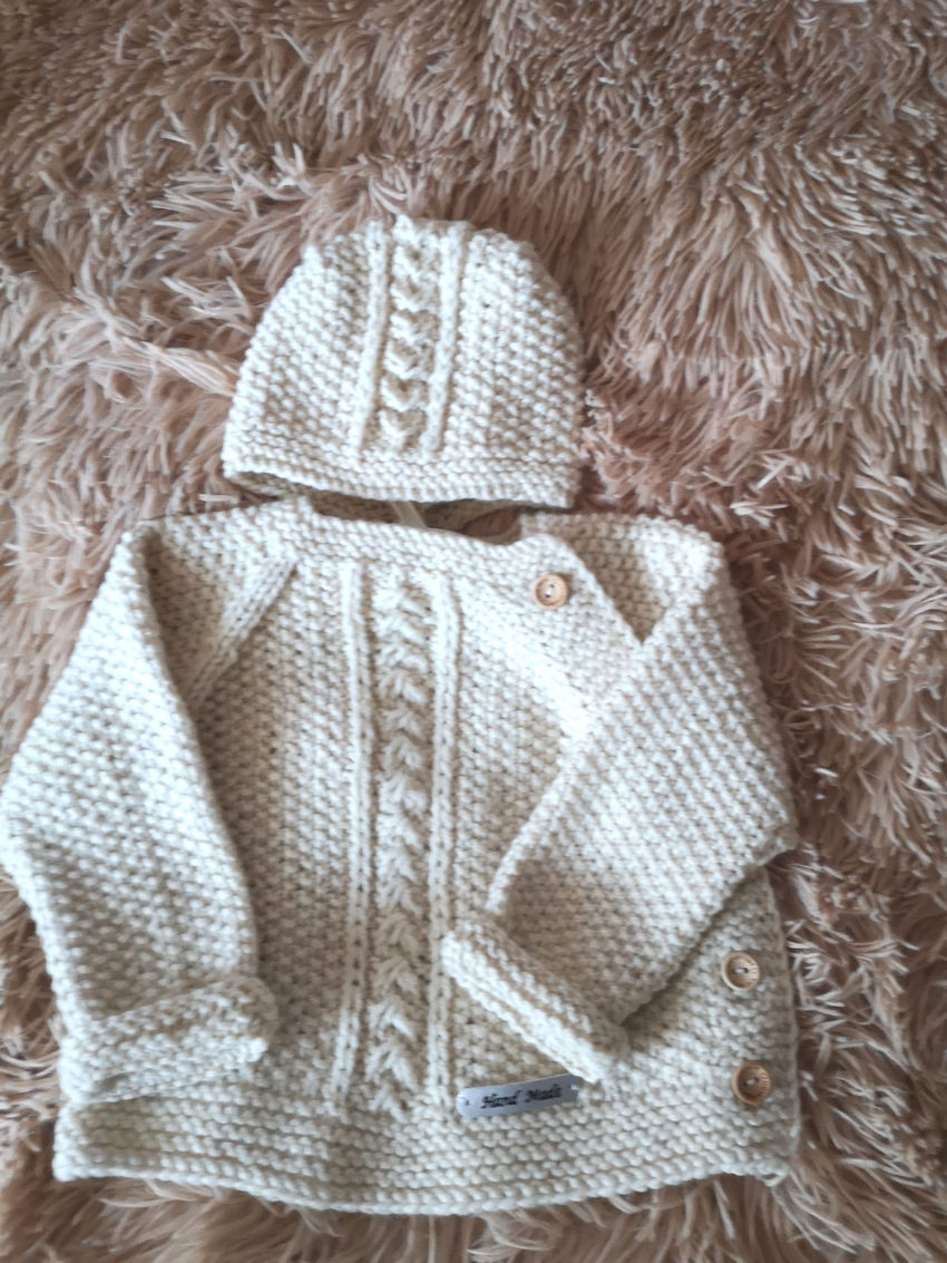 apranga berniukams   Komplektukai   komplektukas : megztukas su kepurytė iš