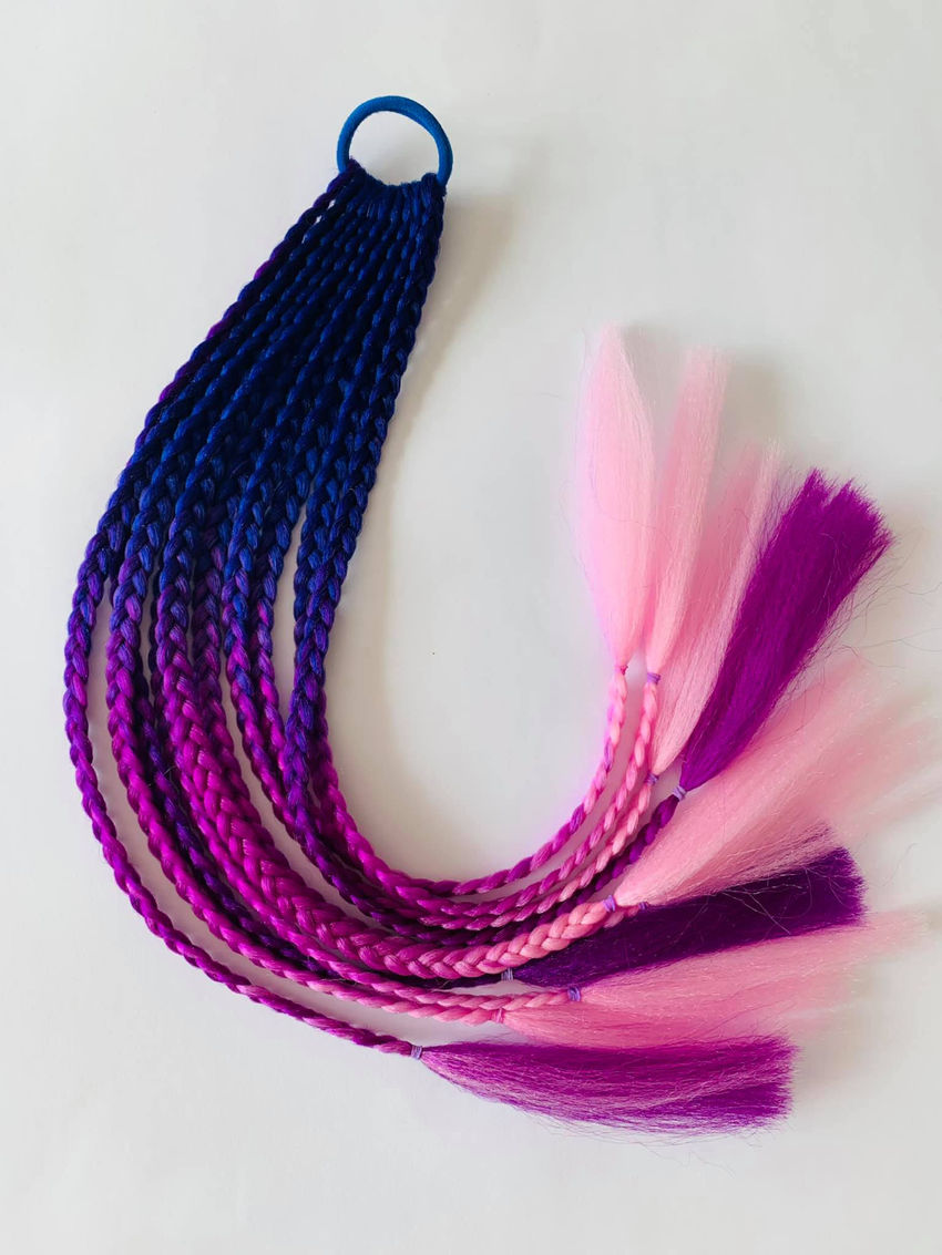 aksesuarai   plaukams   pintos afrokasytės  ant gumelės, 50 cm i