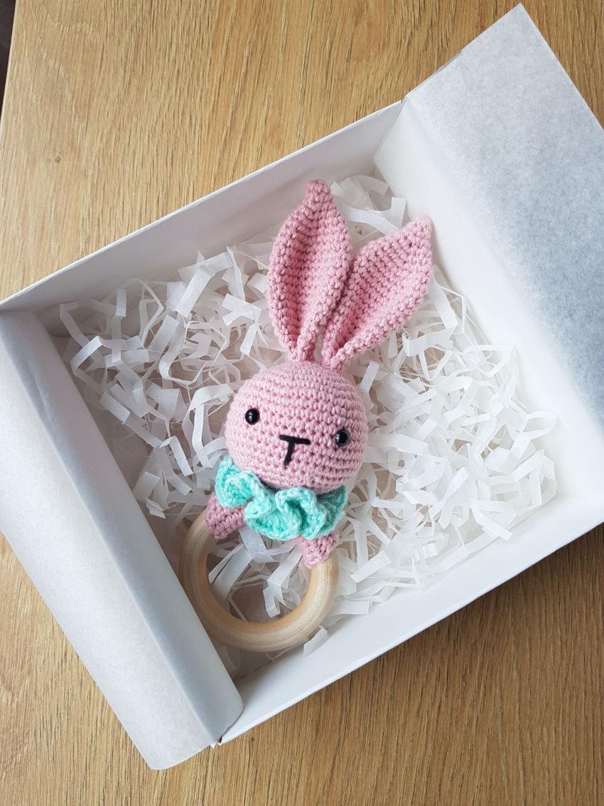 žaislai | barškučiai | kramtukas - barškutis. rožinis su šviesa