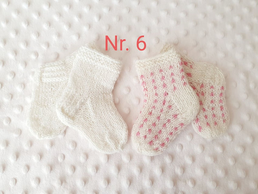 avalynė | kojinės | naujagimiui vilnonės kojinytės , dvi por