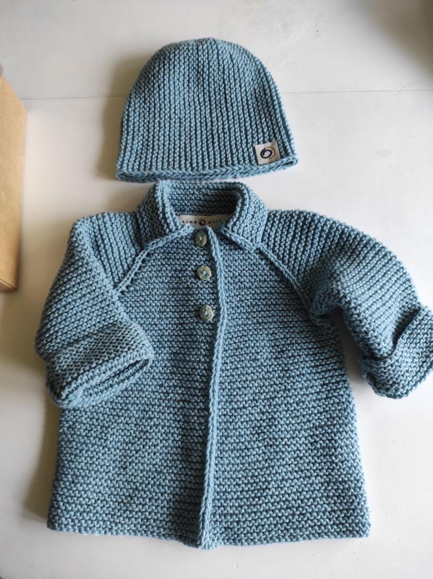 apranga mergaitėms | Megztukai | megztukas su kepuryte kūdikiui 6 mėn. iš