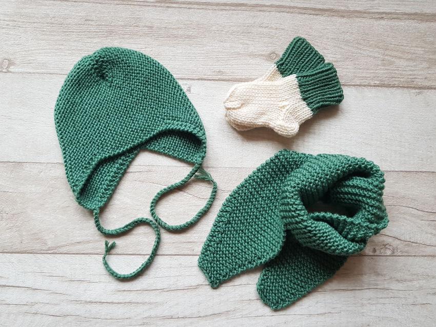 apranga berniukams | Komplektukai | kepurytės, šalikėlio ir kojinaičių kompl