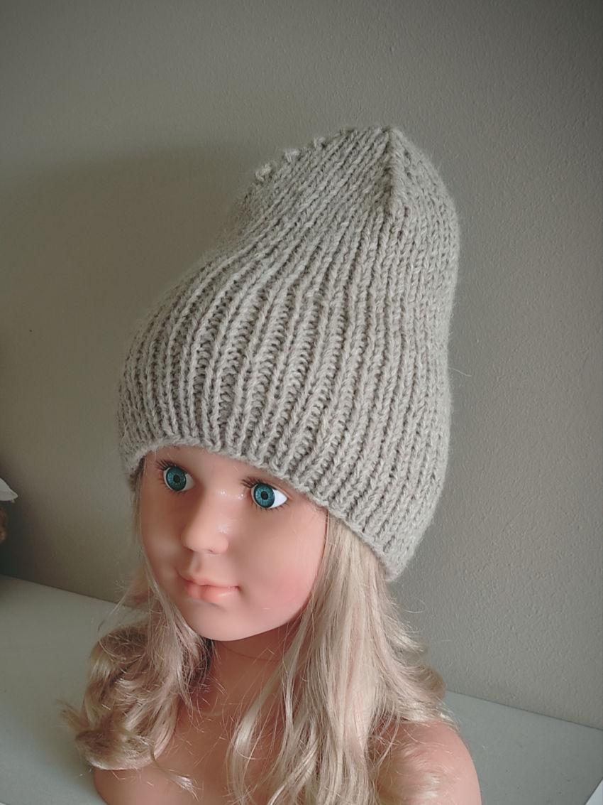 apranga mergaitėms   Kepurės   kepurė šilta iš alpakos vilnos 50-56 cm