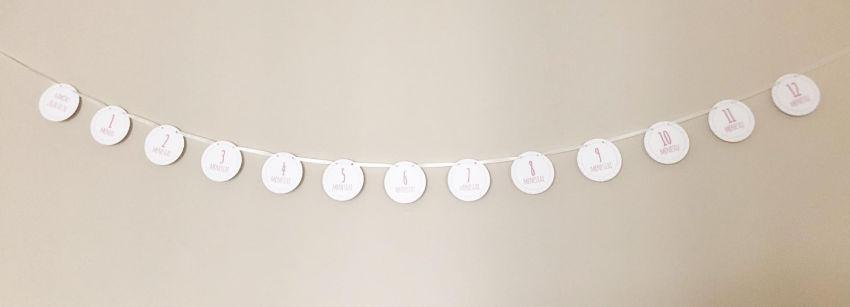 dekoracijos | šventėms | pirmojo gimtadienio girlianda nuotraukom