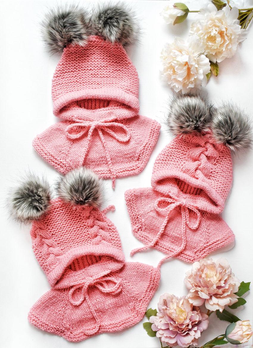 apranga mergaitėms   Kepurės   merino pusvilnės kepurė šalmukas rudeniu