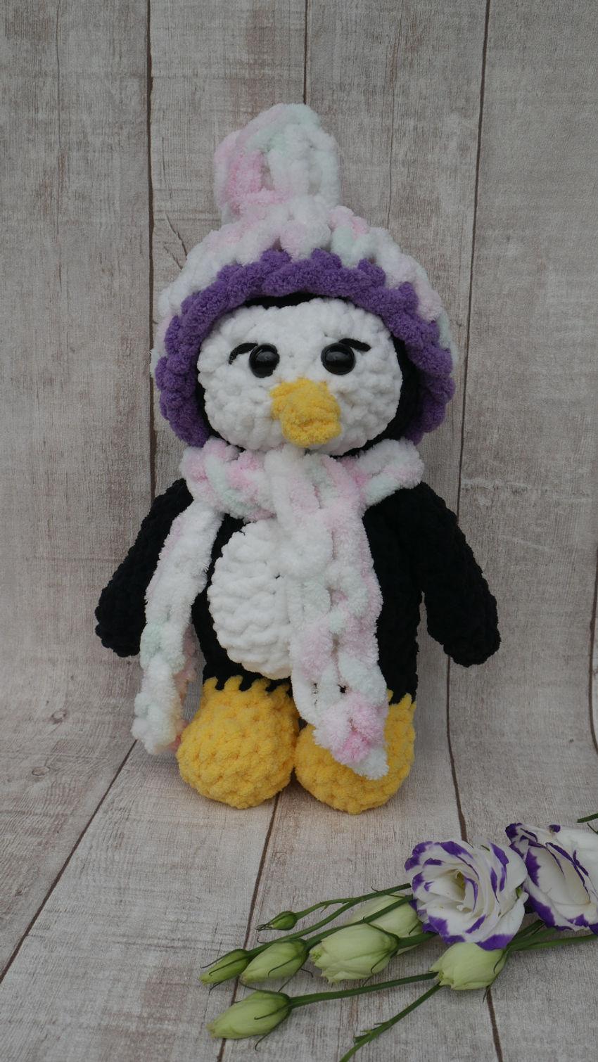 žaislai   minkšti   rankų darbo žaislas - pingvinas. 35 cm.