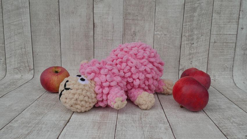 žaislai   minkšti   rankų darbo žaislas - aviukas. apie 30 c