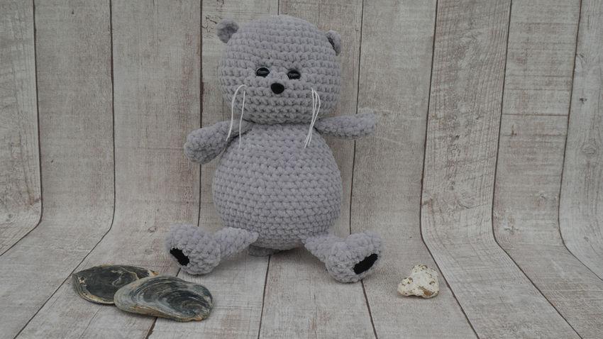 žaislai | minkšti | rankų darbo žaislas - kačiukas basikas.