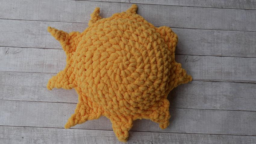 dekoracijos | pagalvėlės | rankų darbo pagalvė - saulė. skersmuo ap