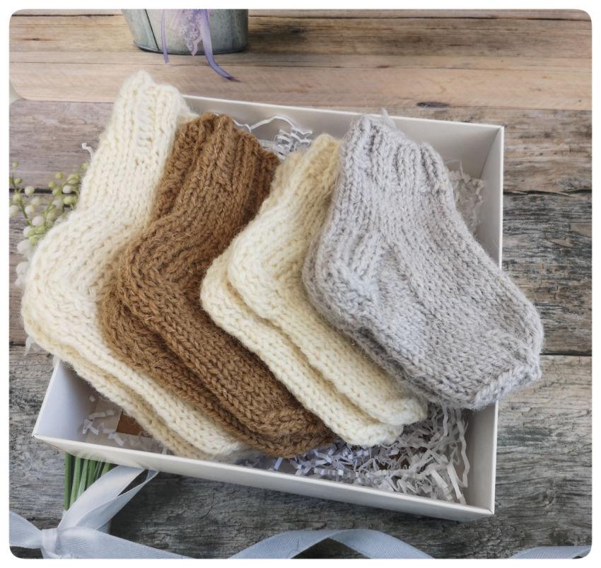 avalynė | kojinės | avies vilnos kojinyčių rinkinys  kūdikiu